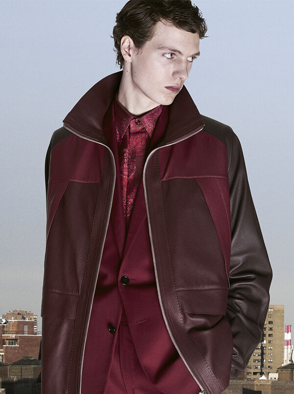 Hoodie Jersey Sweater With Leather Details Berluti