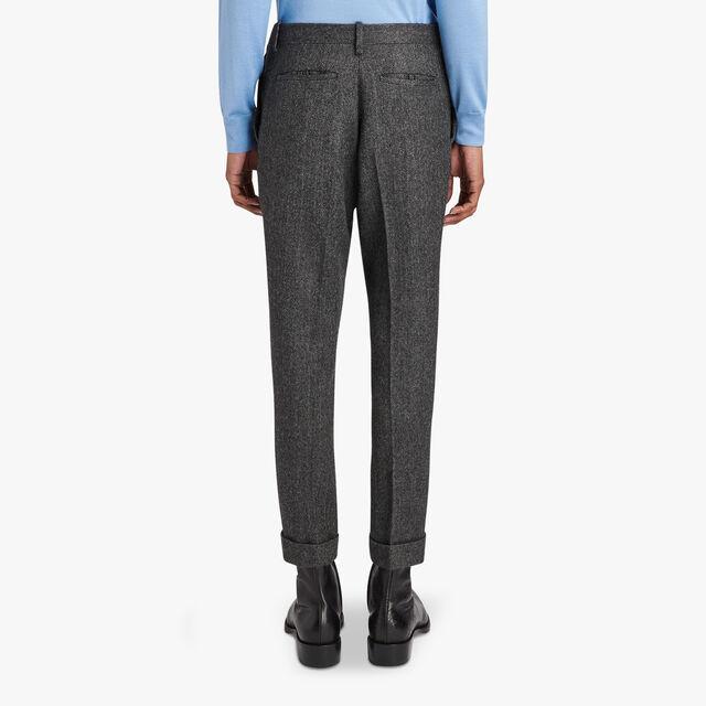 Wool-Blend Formal Pants, IRON, hi-res