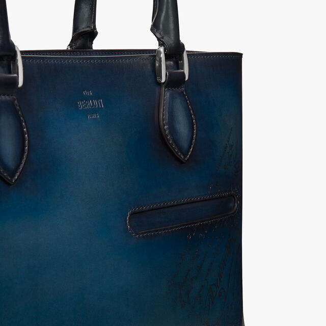 【LIMITED EDITION】Toujours Small Leather Tote Bag, DUSTY BLUE, hi-res