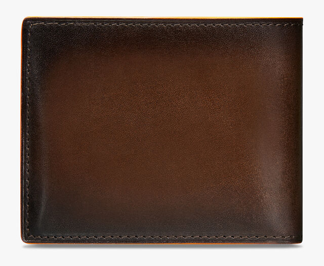 Makore Slim Scritto Leather Wallet, TDM INTENSO + ORANGE, hi-res