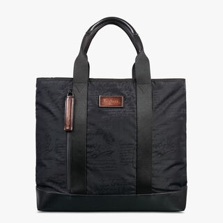 Duo Nylon Tote Bag, NERO, hi-res