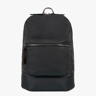 Small Leather Backpack, NERO, hi-res