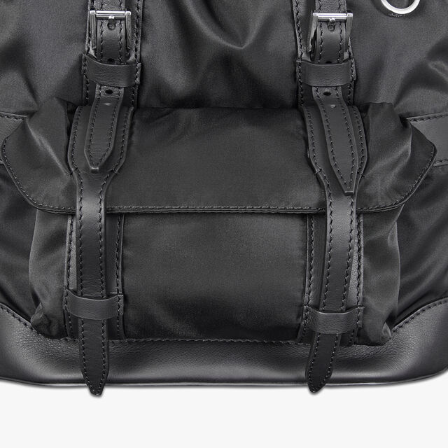 Fraction Small Nylon Backpack, NERO, hi-res