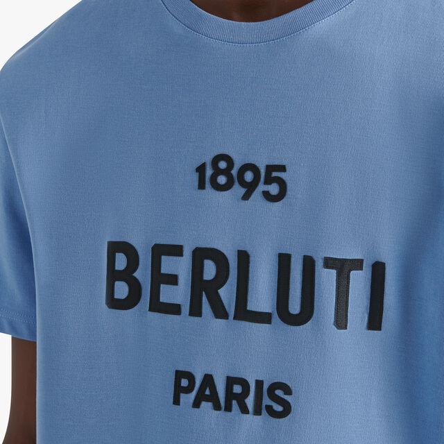 Embroidered Logo T-shirt, SKY BLUE, hi-res