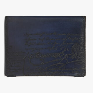 Vision Leather Card Holder, BLU PROFONDO, hi-res
