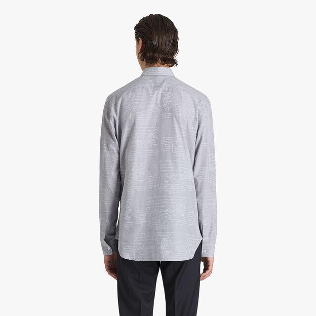 Scritto 棉质提花布衬衫
