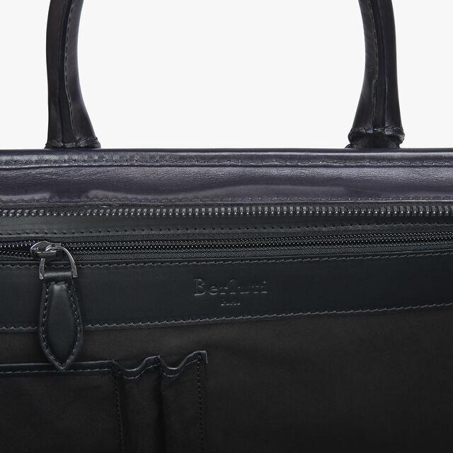 Un Jour Small Leather Briefcase, DEEP BLACK, hi-res