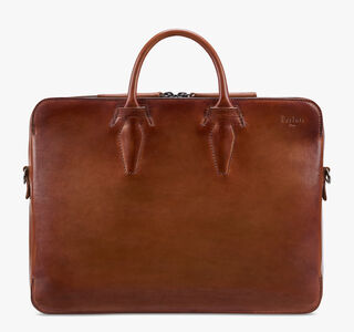Profil 1 Leather Briefcase, COGNAC, hi-res