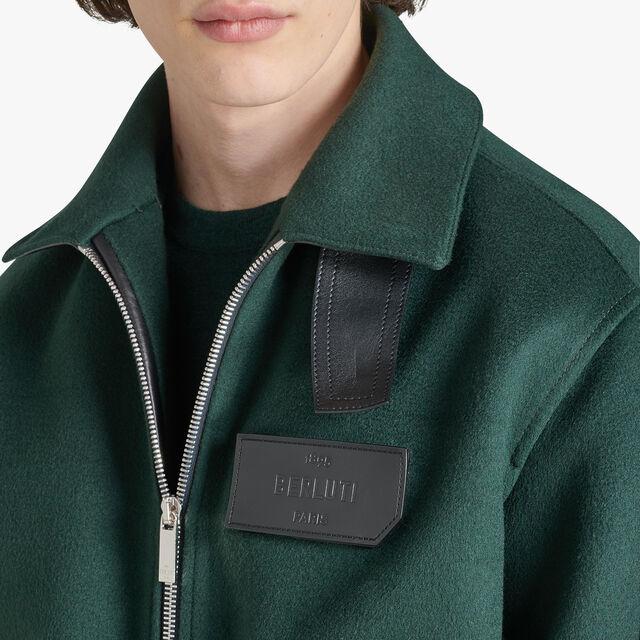 常规剪裁的有毛羊皮装饰的羊绒飞行员夹克, OPUNTIA, hi-res