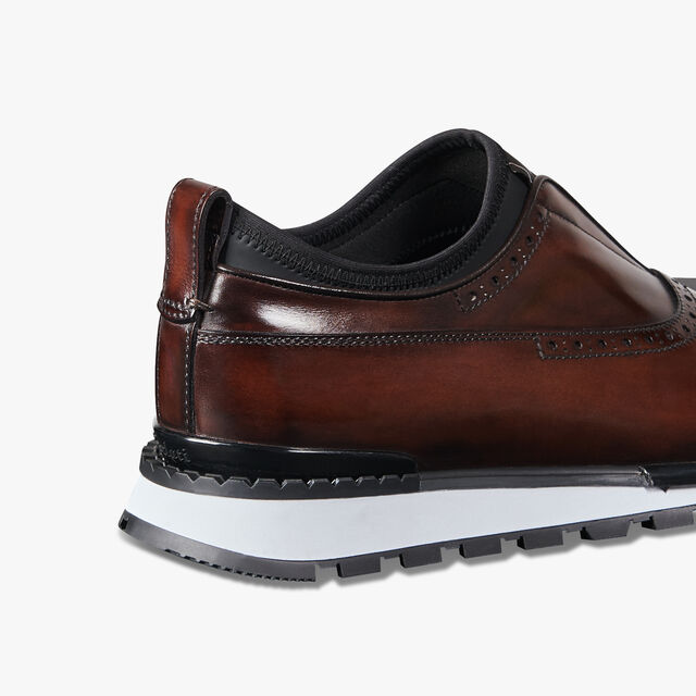 Fast Track Torino Calf Leather & Neoprene Sneaker, BRUN, hi-res