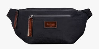 Complice Large Leather Messenger Bag, NERO, hi-res