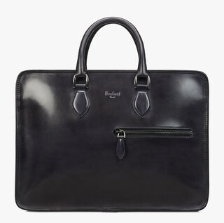 Un Jour Mini Leather Briefcase, DEEP BLACK, hi-res