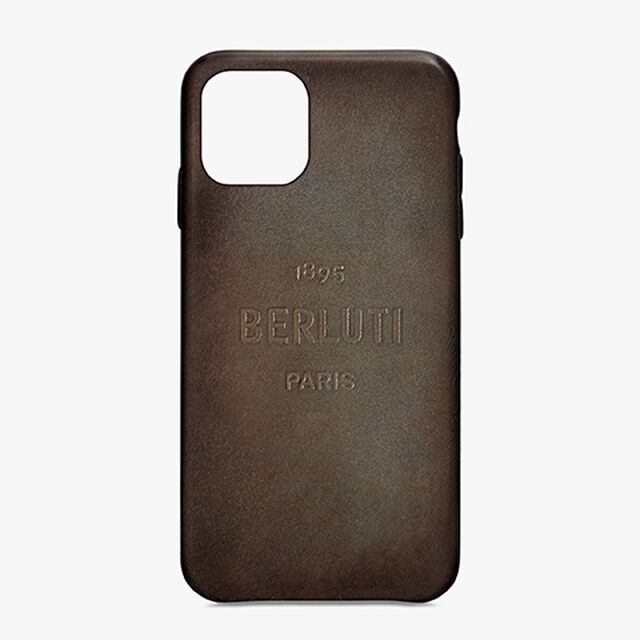 Coque iPhone 11 Pro En Cuir, ICE BROWN, hi-res