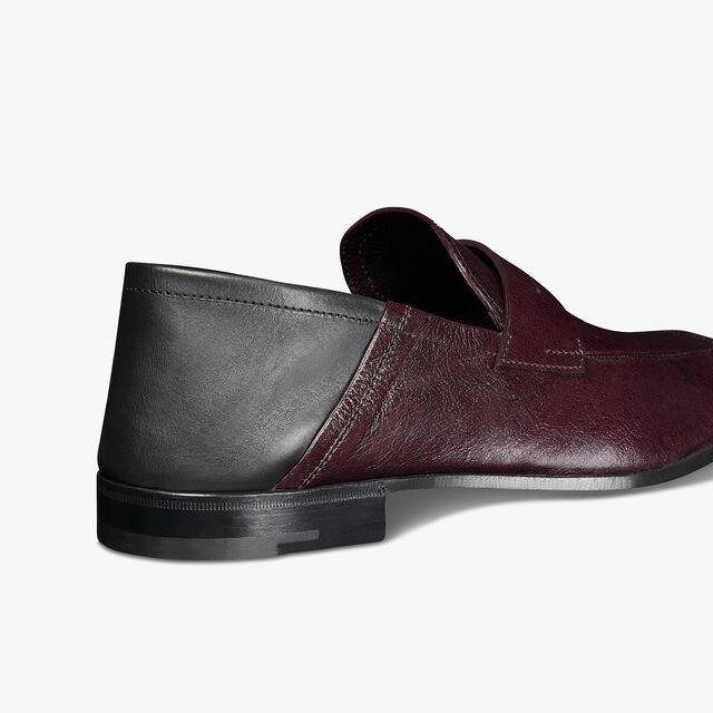 Lorenzo Kangaroo Leather Loafer, BORDEAUX, hi-res