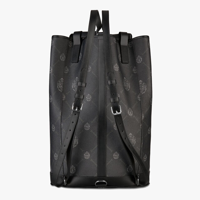 Traversee Canvas And Leather Backpack, BLACK + TDM INTENSO, hi-res