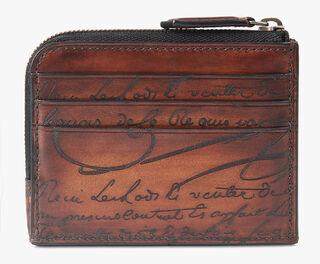 Koa Logic Leather Zipped Card Holder, MOGANO, hi-res
