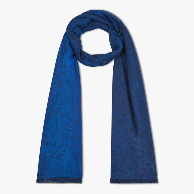 Crest Cashmere Scarf, SPACE BLUE, hi-res