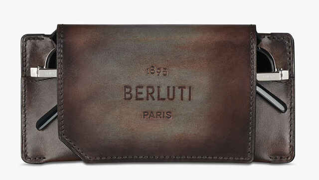 Leather Sunglasses Case, ICE BROWN, hi-res