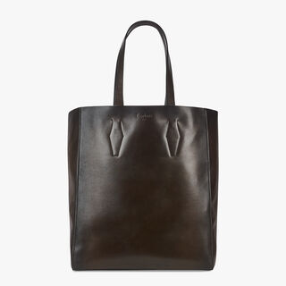 Silhouette Leather Tote, BRUN, hi-res