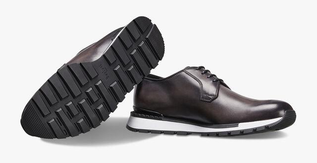 Fast Track Torino Scritto Calf Leather Sneaker, NERO, hi-res