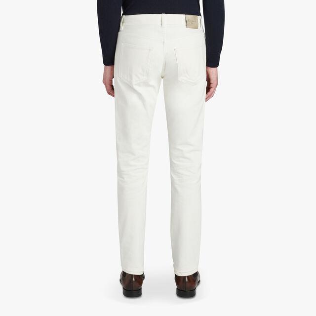 Narrow Fit 5-Pocket Pants, GARDENIA, hi-res