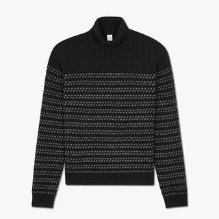 Cashmere Cross Stitch Turtleneck Sweater