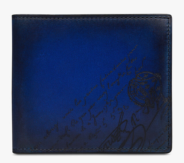 Makore Scritto Swipe Leather Wallet, UTOPIA BLUE, hi-res