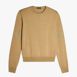 Wool Crewneck Sweater, SAND, hi-res