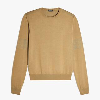 圆领羊毛针织衫, SAND, hi-res