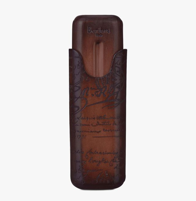Scritto Leather Two-Cigar Case, TOBACCO BIS, hi-res
