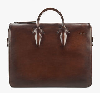 Profil 2 Leather Briefcase, MOGANO, hi-res