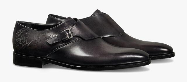 Scars Demesure Scritto 小牛皮扣带鞋, DEEP BLACK, hi-res