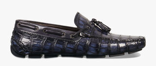 Saturnin Saint-Tropez Alligator Leather Loafer, BLU, hi-res