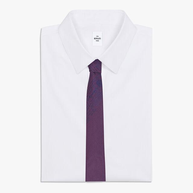 6 cm Jacquard Scritto Silk Tie, METAMORPHOSIS, hi-res