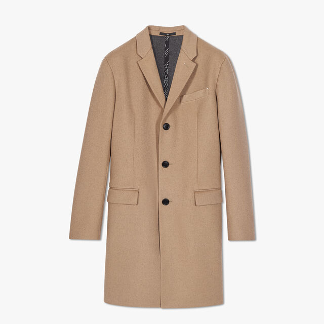 Wool And Cashmere Double Face Coat, DESERT TAN + FOSSIL GREY, hi-res