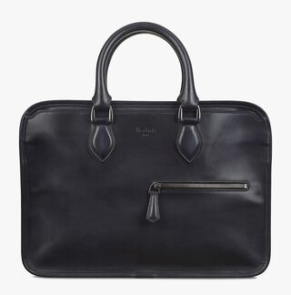 Un Jour Mini Calf Leather Briefcase, NERO, hi-res
