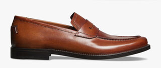 Gianni Sapienza Calf Leather Loafer, COGNAC, hi-res