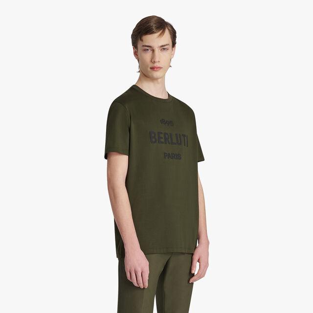 Cotton Logo T-shirt, FOREST GREEN, hi-res