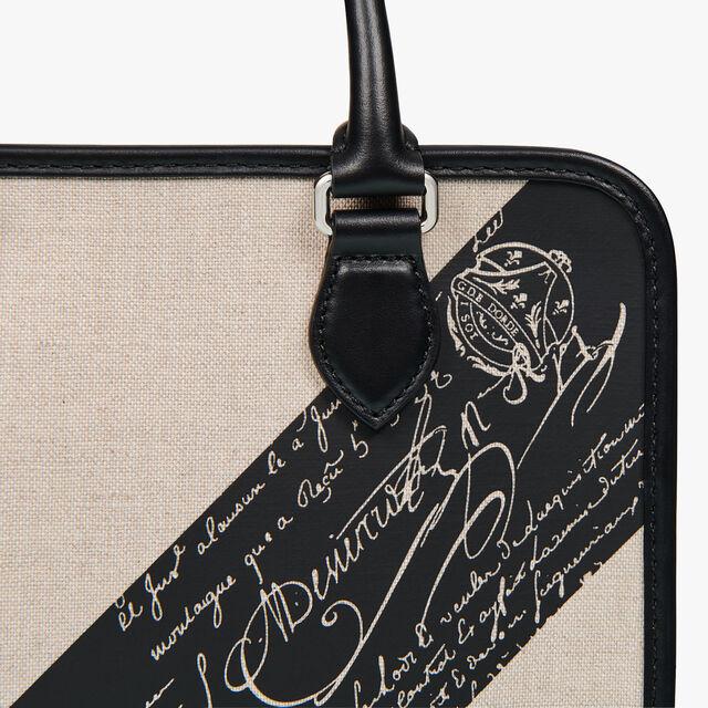 アンジュール ガリバー スクリット キャンバス&レザー メッセンジャーバッグ, BEIGE + BLACK, hi-res
