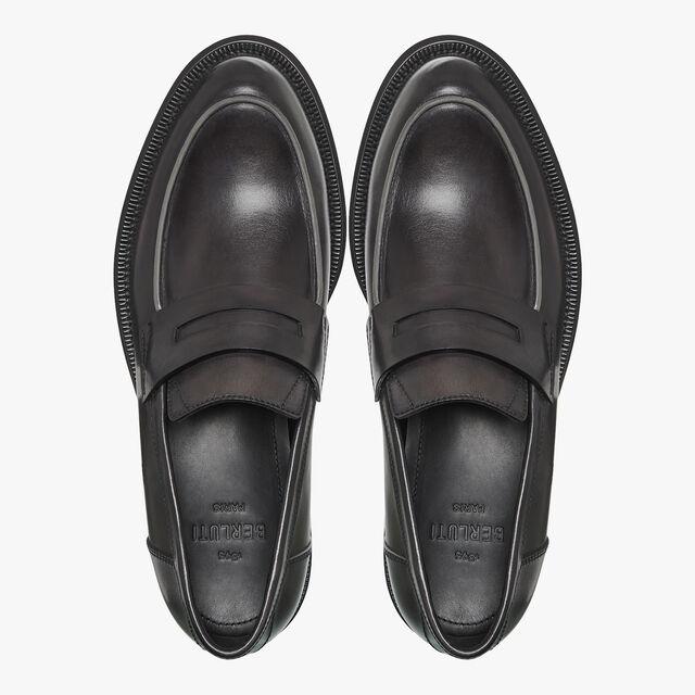 College Eclat Calf Leather Loafer, DEEP BLACK, hi-res