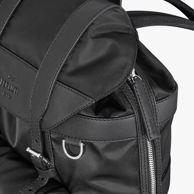 Fraction Small Nylon Backpack, NERO, hi-res