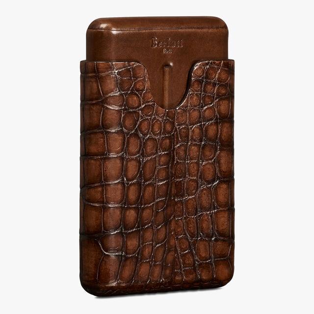 b7b5dbe5e087 Alligator Leather Four-Cigar Case - Berluti