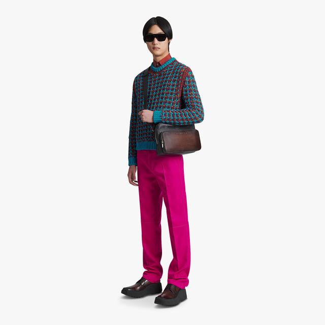 Woven Effect Sweater, LIGHT SKY BLUE, hi-res