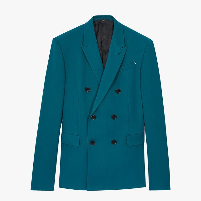 Double Breasted Wool Jacket, ALPINE GREEN, hi-res