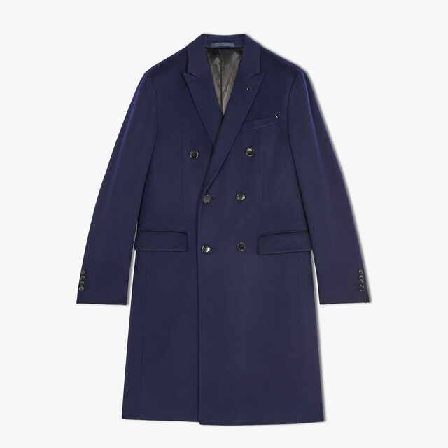 Long Formal Cashmere Double Breasted Coat, ULTRAMARINE, hi-res
