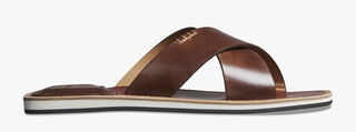 Elio Patmos Leather Sandal, MATTONE, hi-res