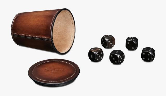 Leather Dice Game, BRUN, hi-res
