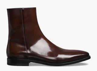 Singulier Eclair皮革短靴, BRUN, hi-res