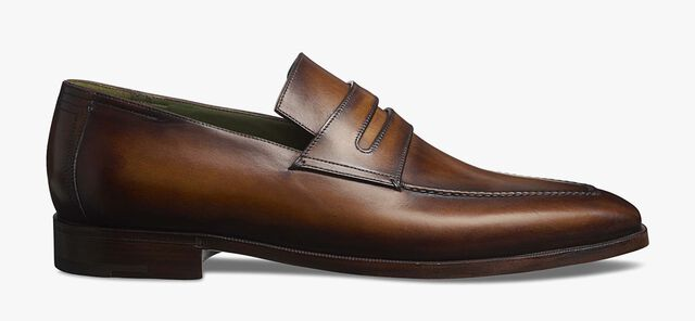 Andy Demesure Calf Leather Loafer, CACAO, hi-res