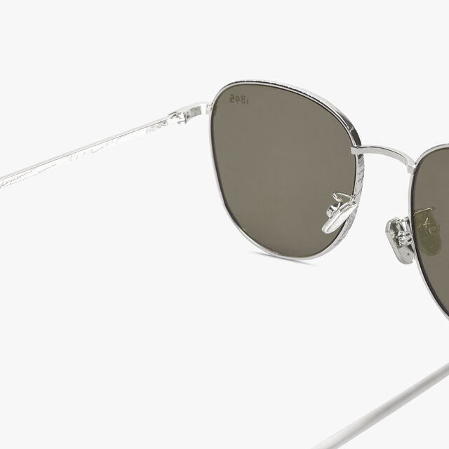 Moonlight Scritto Metal Sunglasses, LIGHT GOLD+SOLID BROWN, hi-res